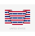 Stars and Stripes Flag Flat Icon vector image vector image
