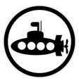 Submarine icon on white vector image vector image