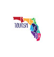 template icon art florida map vector image vector image