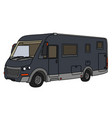 the dark large motor home vector image vector image