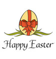 traditional happy easter concept vector image vector image