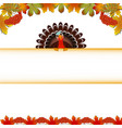 turkey bird for happy thanksgiving celebration vector image vector image