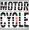 vintage motorcycle typography t-shirt graphic vector image