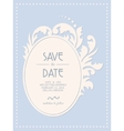 Vintage wedding invitation card with floral frame