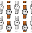 wristwatch seamless pattern or wristlet watch vector image vector image