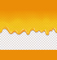 yellow drips seamless background vector image vector image