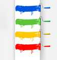 banner with paint roller brush vector image