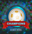 Abstract football and soccer infographic champions vector image