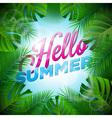 Hello Summer Holiday typographic design vector image