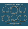 Nautical Ropes Frame set vector image