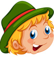 A happy face of a kid vector image vector image