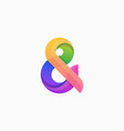 ampersand concept template vector image