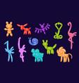 animal balloons balloon animals for happy vector image vector image
