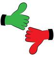 Art hand gesture like unlike vector image vector image