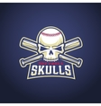 Baseball Team Logo Template Skull and Crossed vector image vector image