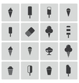 black ice cream icons set vector image vector image