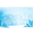 Blue Christmas background with tree branches and vector image vector image