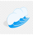 blue sea wave isometric icon vector image vector image