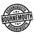 bournemouth black round grunge stamp vector image vector image