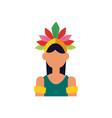 brazil garota woman flat style icon design vector image vector image