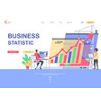 business statistics flat landing page template vector image