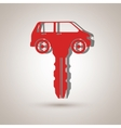 Car key design vector image vector image
