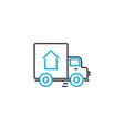 cargo delivery thin line stroke icon cargo vector image vector image