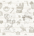 christmas cute cafe dessert seamless pattern vector image