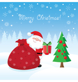 Christmas Santa Claus card vector image