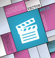 Cinema Clapper icon sign Modern flat style for vector image