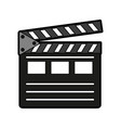 clapperboard movie icon image vector image vector image