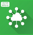cloud computing technology icon in flat style vector image vector image