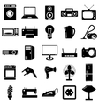 Collection flat icons Electrical devices symbols vector image vector image