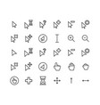cursor outline icon set vector image vector image
