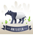 cute cartoon anteater vector image vector image