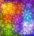 Different blue snowflakes set Abstract seamless vector image