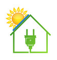 eco house solar energy vector image