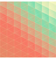 elegant pattern of colorful gradient triangles in vector image