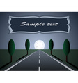 empty road - moon light vector image vector image