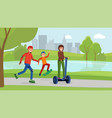 family day in park vector image vector image