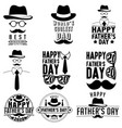 fathers day label set design black and white vector image vector image