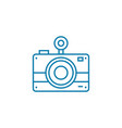 film camera linear icon concept film camera line vector image vector image