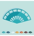 Flat design folding fan vector image vector image