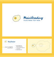 fry egg logo design with tagline front and back vector image vector image