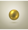 Glossy gold sphere vector image