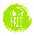 gluten free label painted round emblem icon vector image