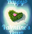 Happy Valentines Day Tropical Island vector image