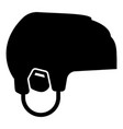 hockey helmet icon black color flat style simple vector image vector image