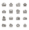 home signs black thin line icon set vector image vector image