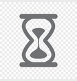 hourglass icon sand clock symbol and sign vector image